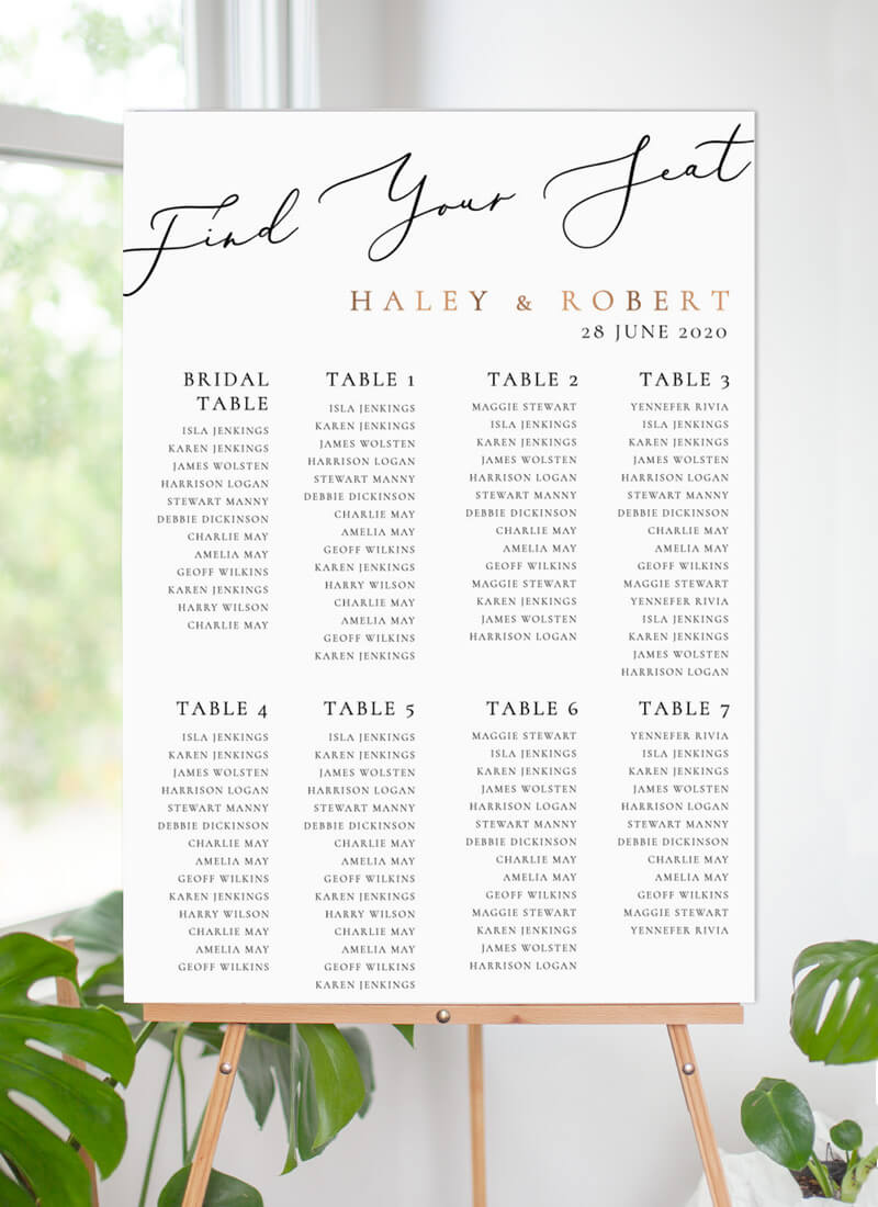 Rose Et Gris - Seating Charts