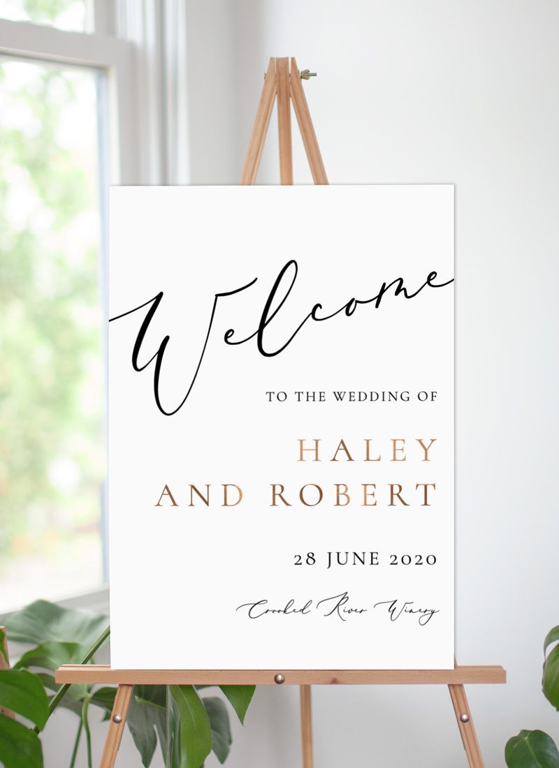 Rose Et Gris - Welcome Signs