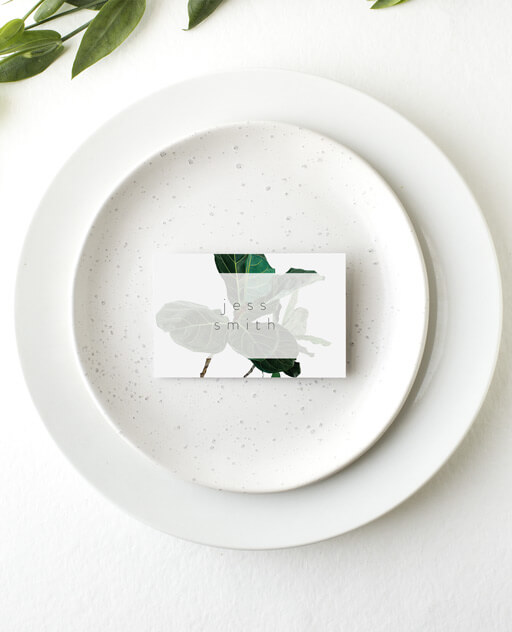 Fiddle Leaf Fig - Place Cards