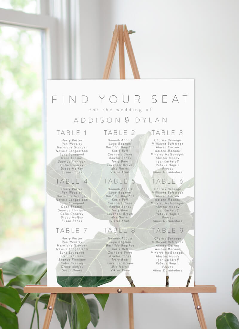 Fiddle Leaf Fig - Seating Charts