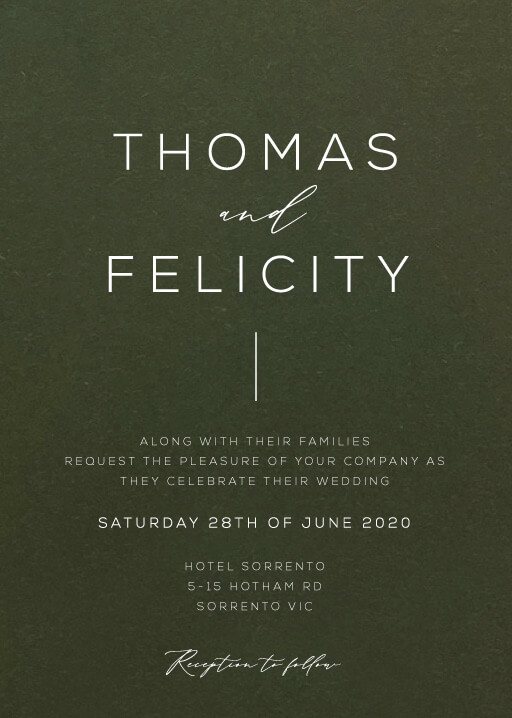 Verde Wedding Invitations - wedding invitations