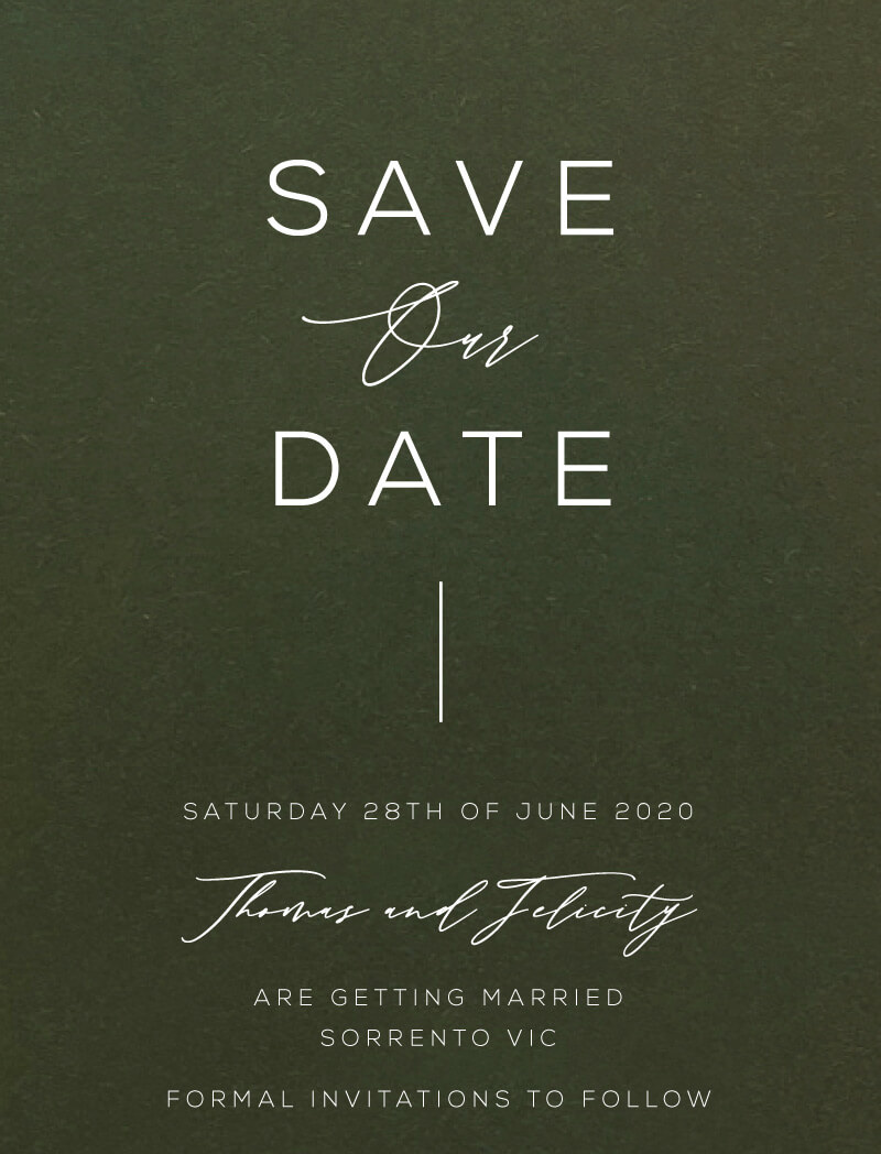 Verde - Save The Date