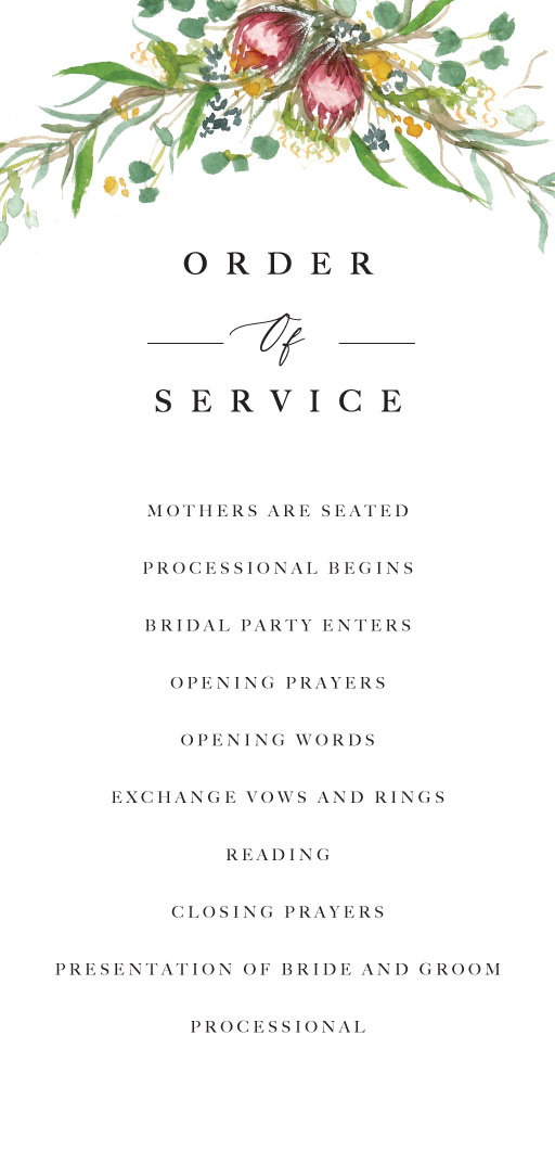 Sarulean - Order of Service