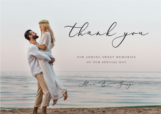 Sarulean Thank You - Thank You Cards