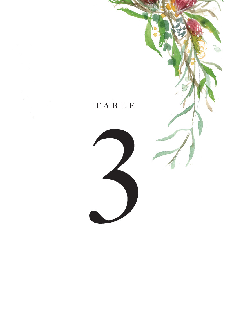 Sarulean - Table Numbers