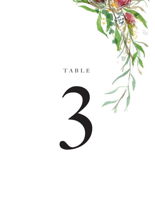 Sarulean - table numbers