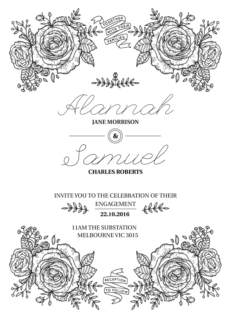 Botanic - engagement invitations