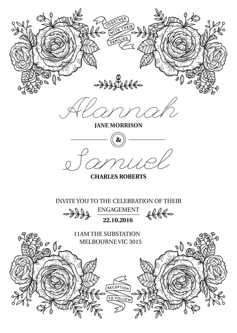Botanic - engagement invitations