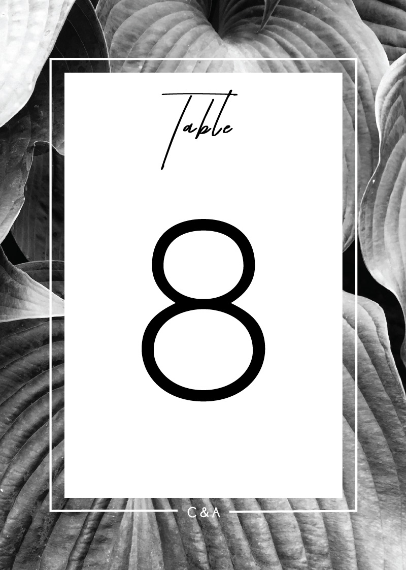 Modern Mode - Table Numbers