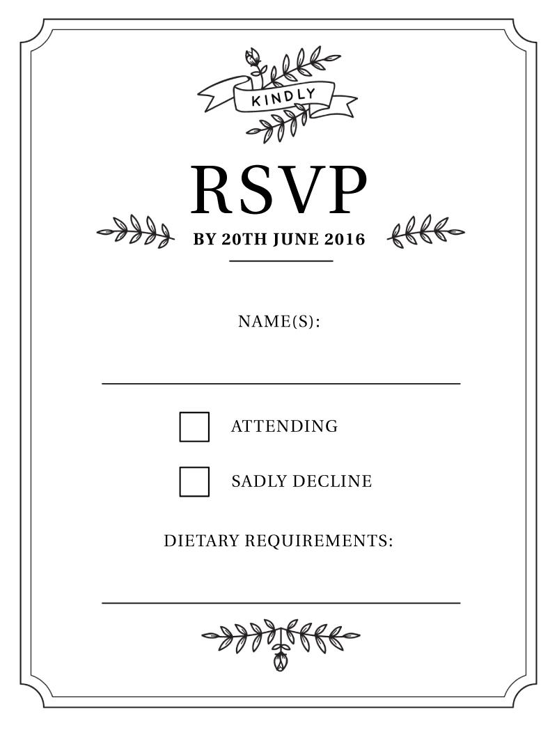 Botanic - RSVP Cards