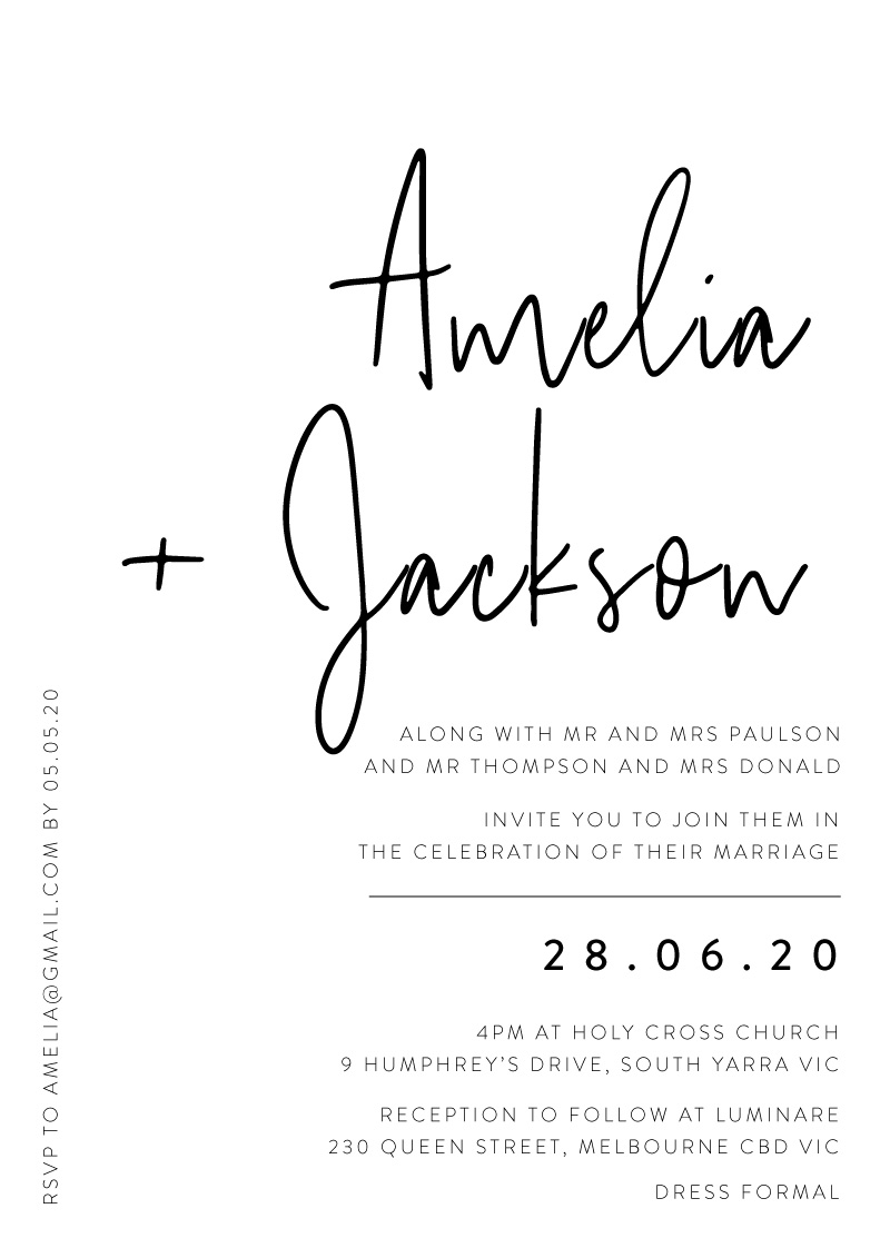 Linear - Wedding Invitations