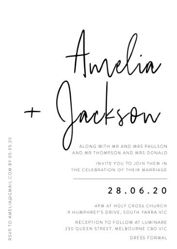 Linear Wedding Invitations - wedding invitations