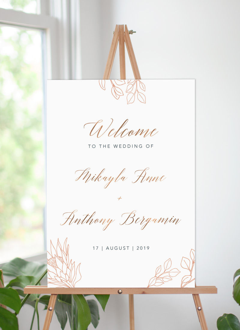 The King Protea - Wedding Signs