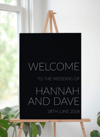Narrow - Wedding Signs