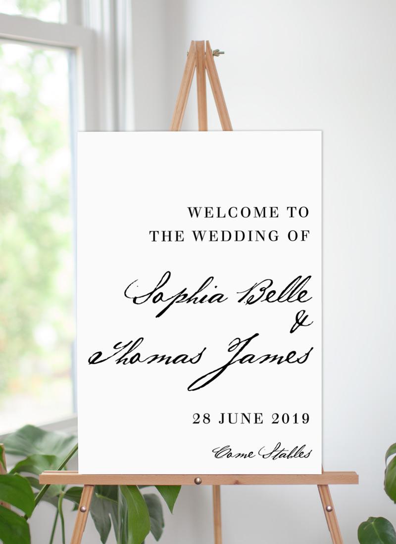 Simple Script - Wedding Signs
