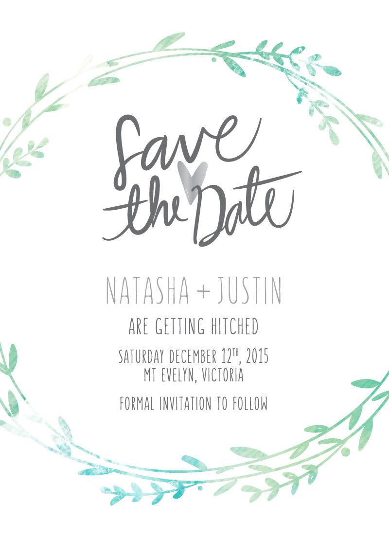 Leaf Wreath - Save The Date