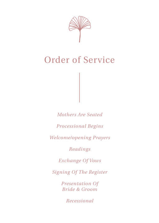 Dancing Ginkgo - Order of Service