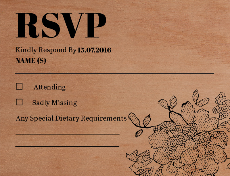 Flowers in the Wood - RSVP Cards