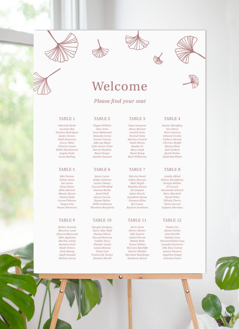 Dancing Ginkgo - Seating Charts