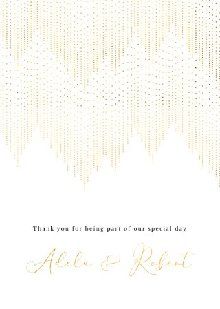 Gold Dust Thank You - Thank You Cards