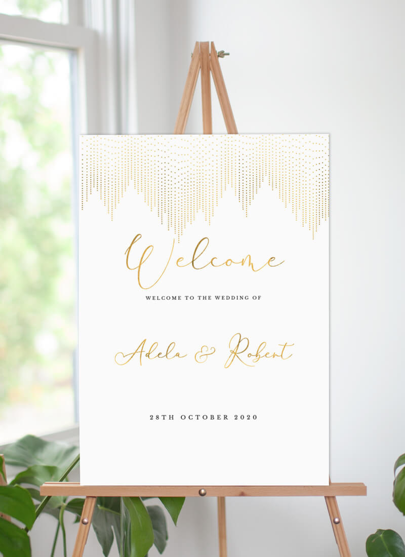 Gold Dust - Wedding Signs