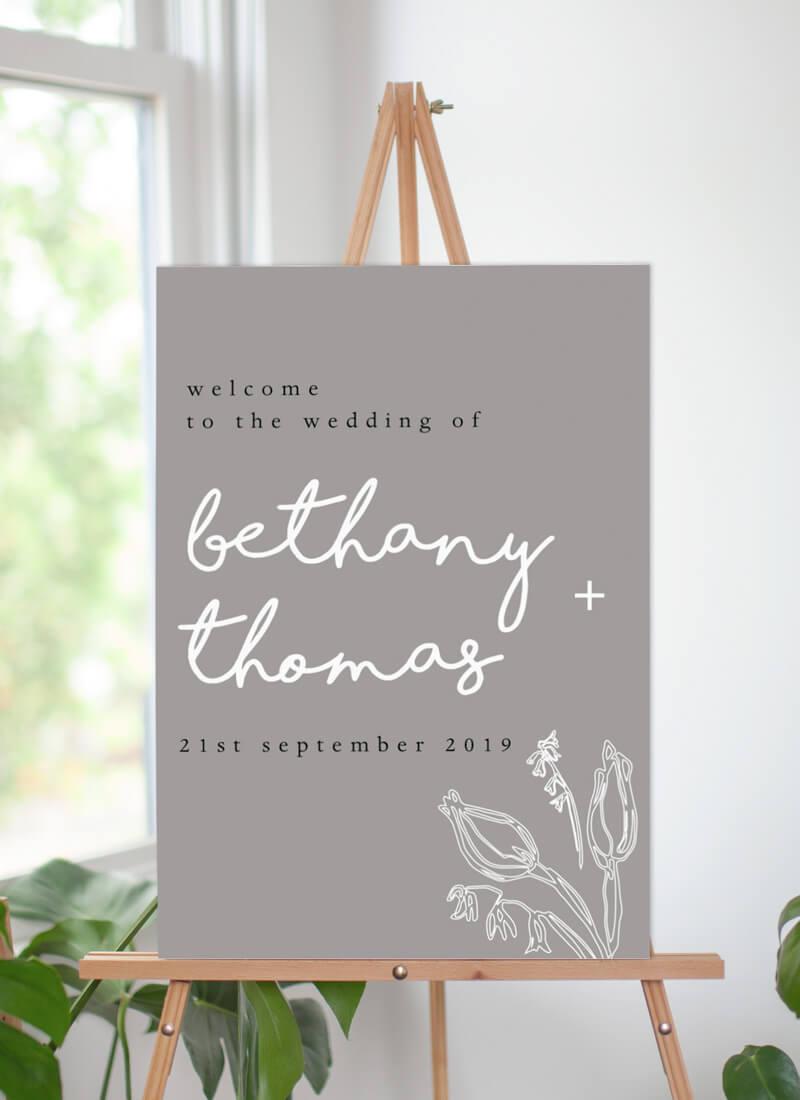 Blanc Bloom - Wedding Signs