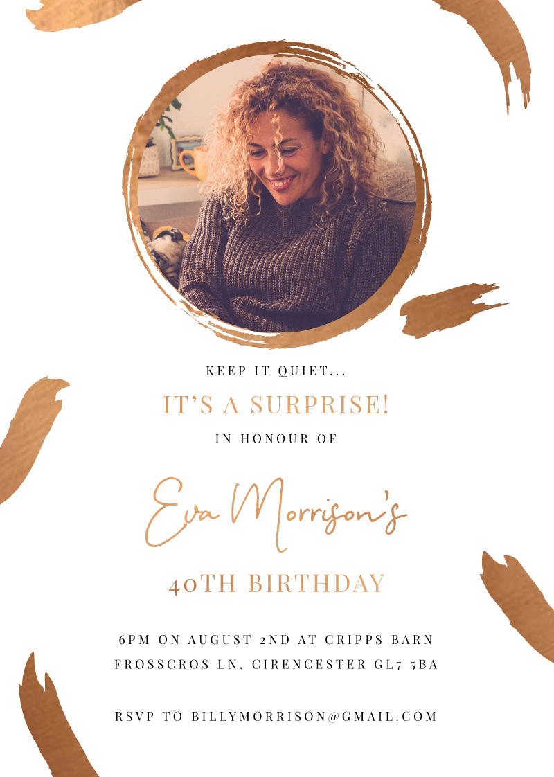 Foil Paint - Birthday Invitations