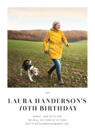Polaroid - birthday invitations