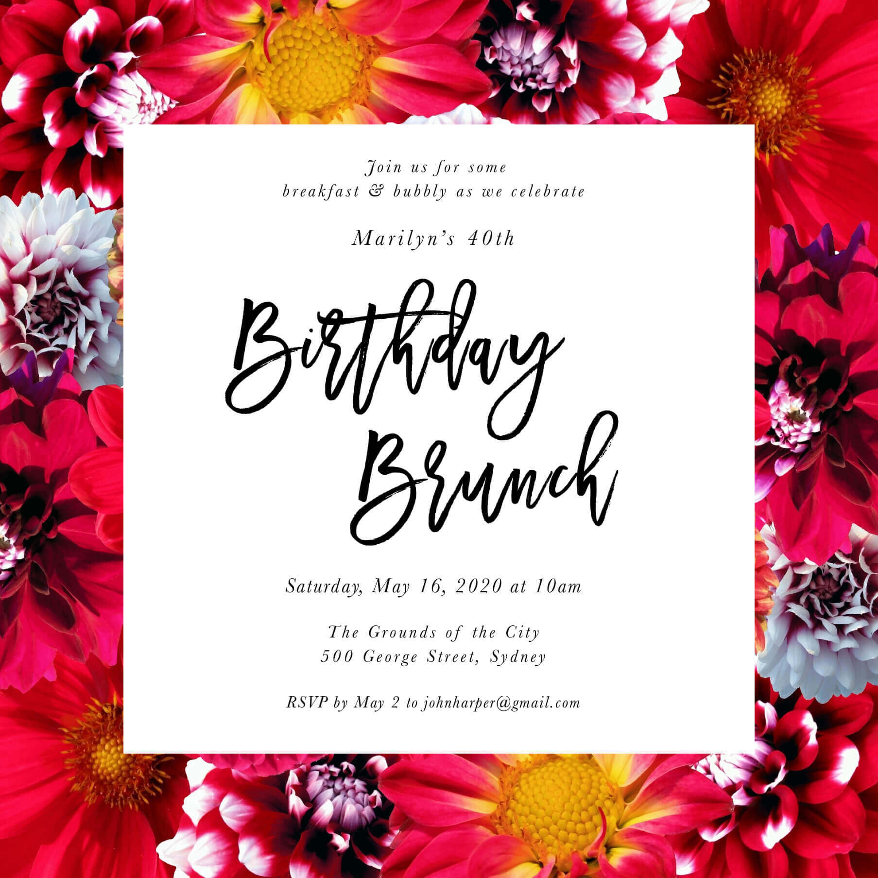 Bloom - Birthday Invitations
