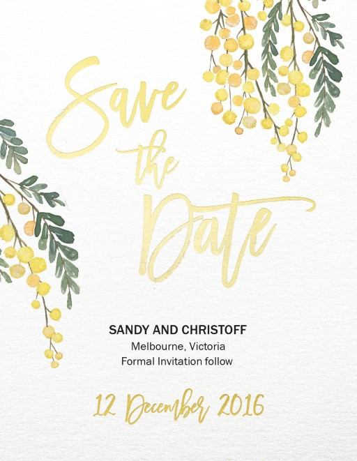 Golden Native - Save The Date