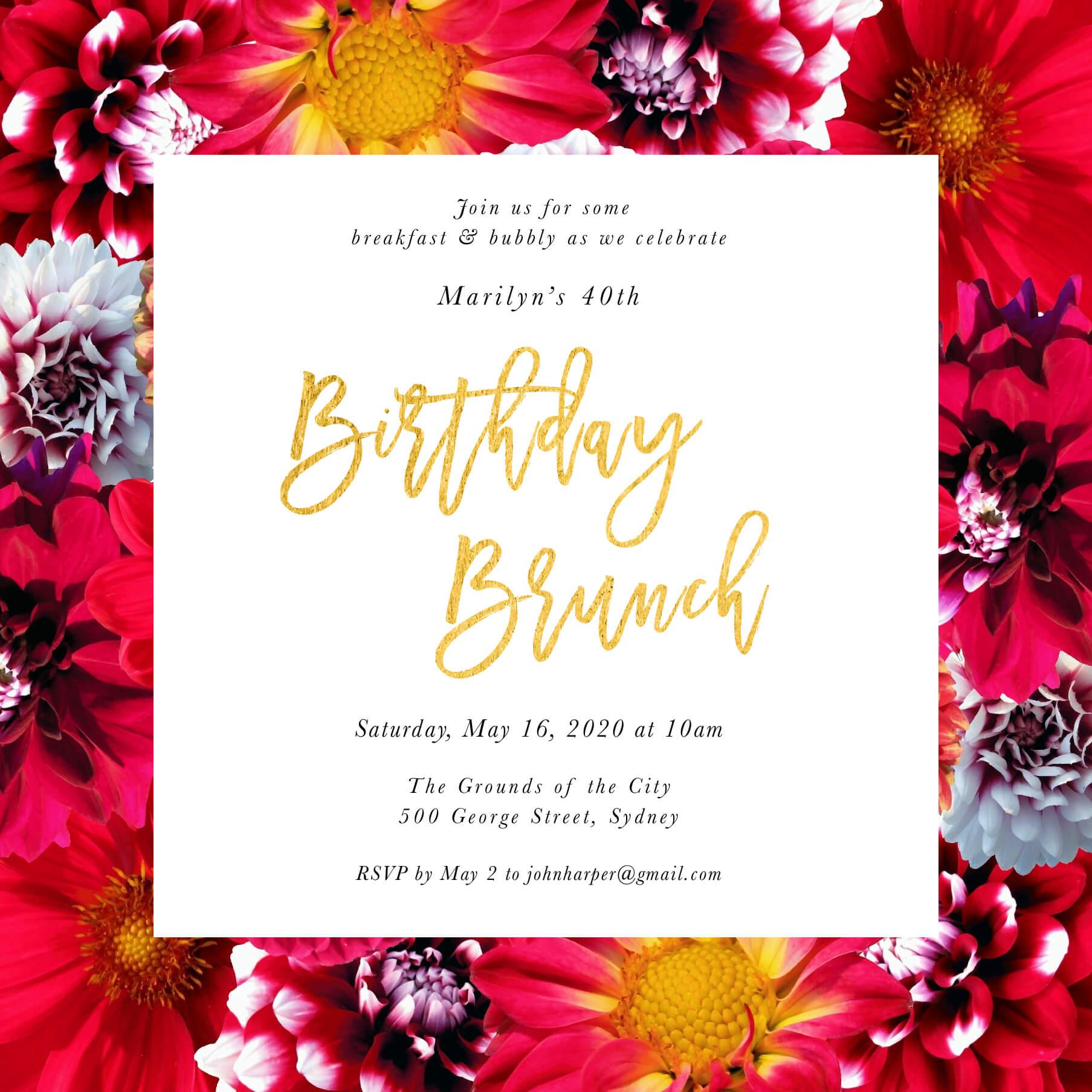 Bloom - Birthday Invitations