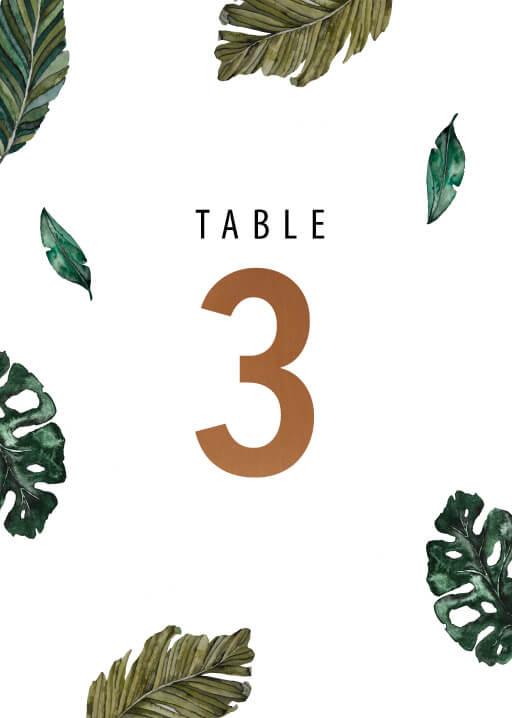 Moody Tropics - table numbers