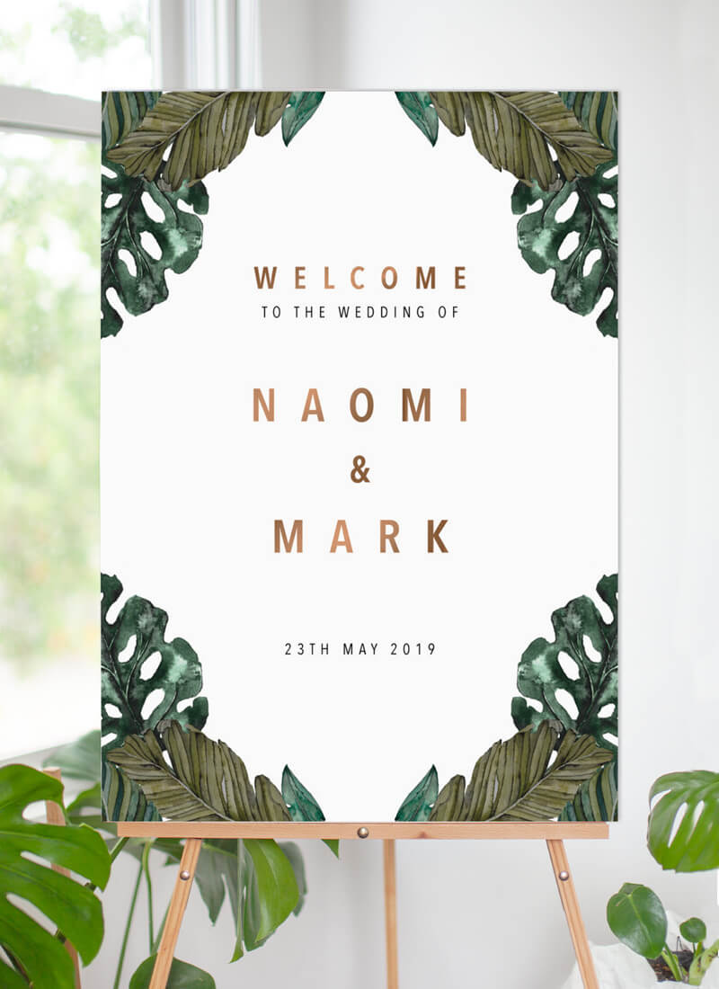 Moody Tropics - Wedding Signs