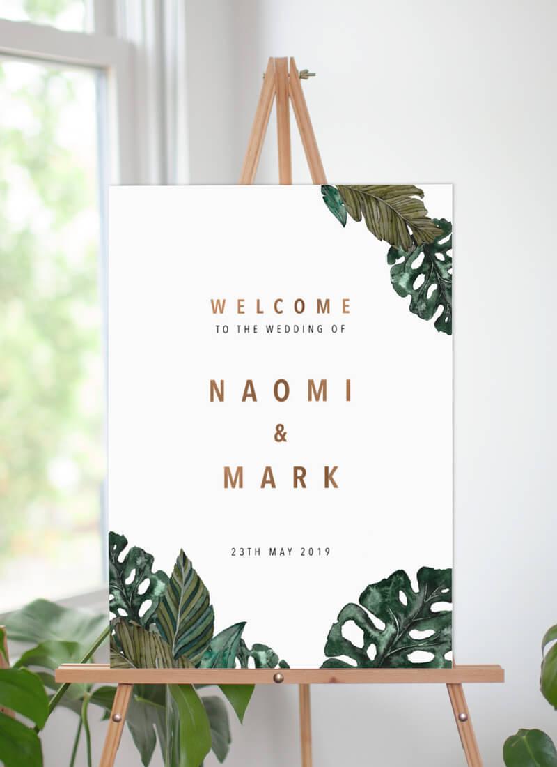 Moody Tropics - Wedding Signs