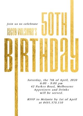 Line Up - birthday invitations