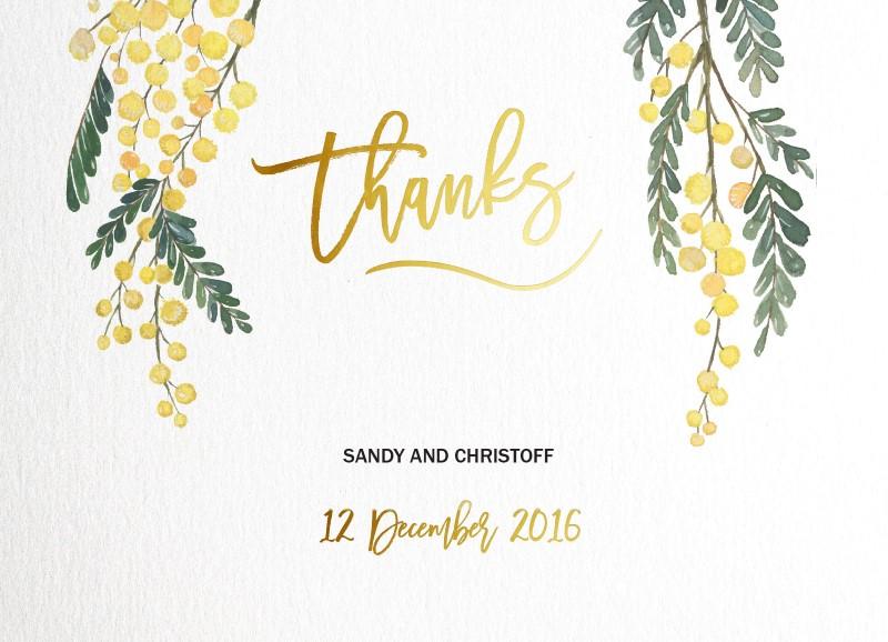 Golden Native - Thank You Cards