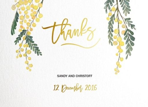Golden Native - Thank You Cards