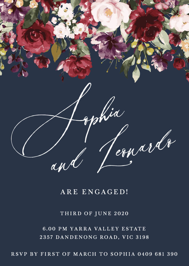 La Butte - Engagement Invitations