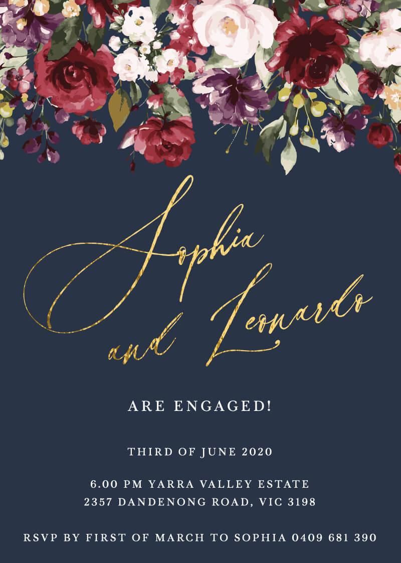 La Butte - Engagement Invitations