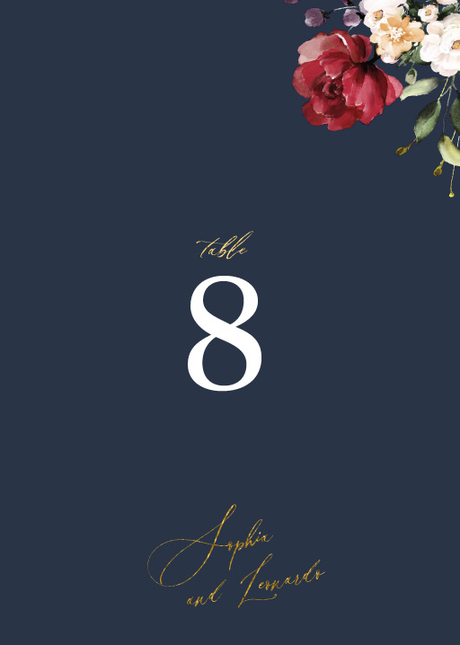 La Butte - table numbers