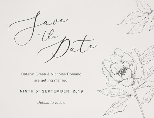 Graphite Blooms - Save The Date