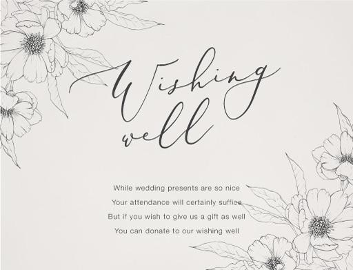 Graphite Blooms - Wishing Well
