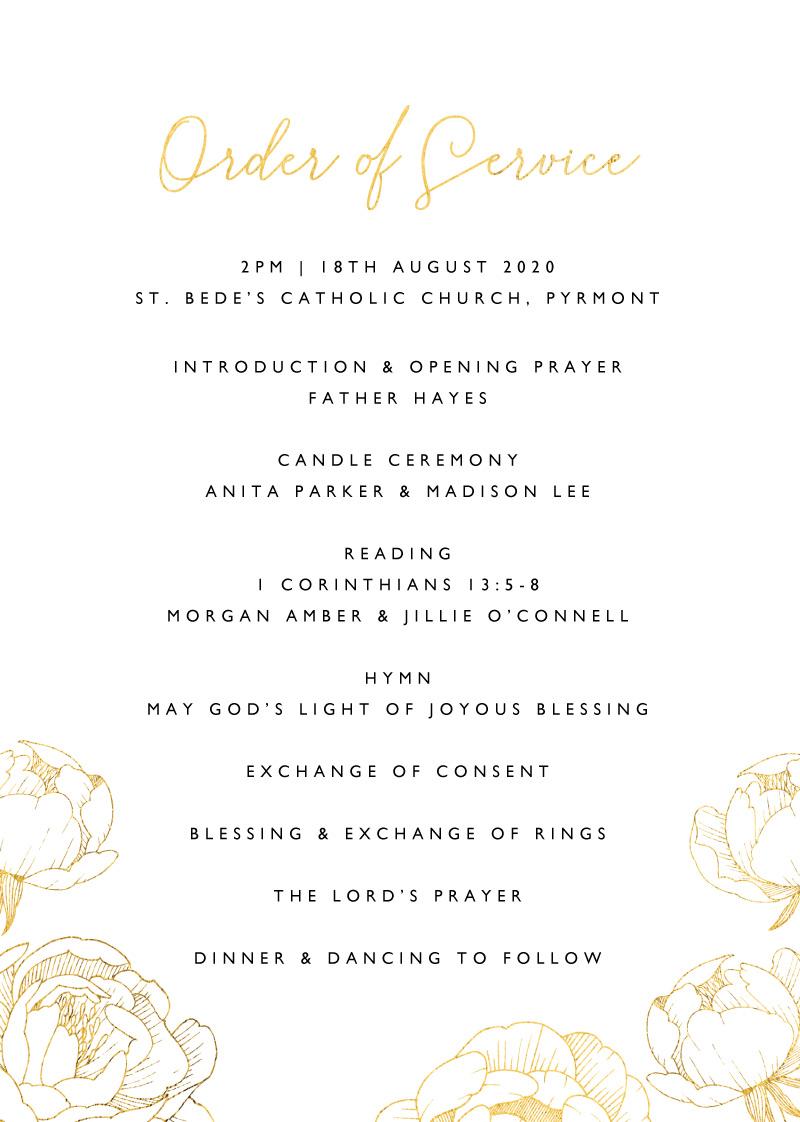 Peony Bloom - Wedding Programs