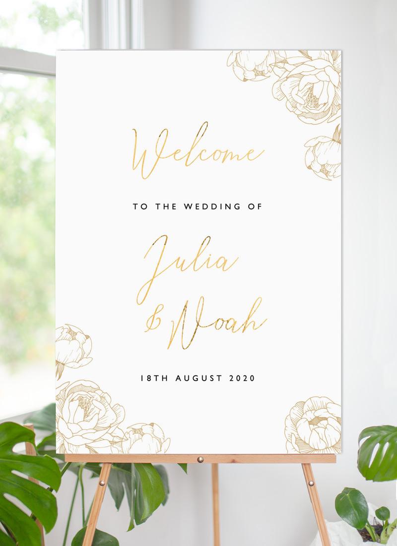 Peony Bloom - Wedding Signs