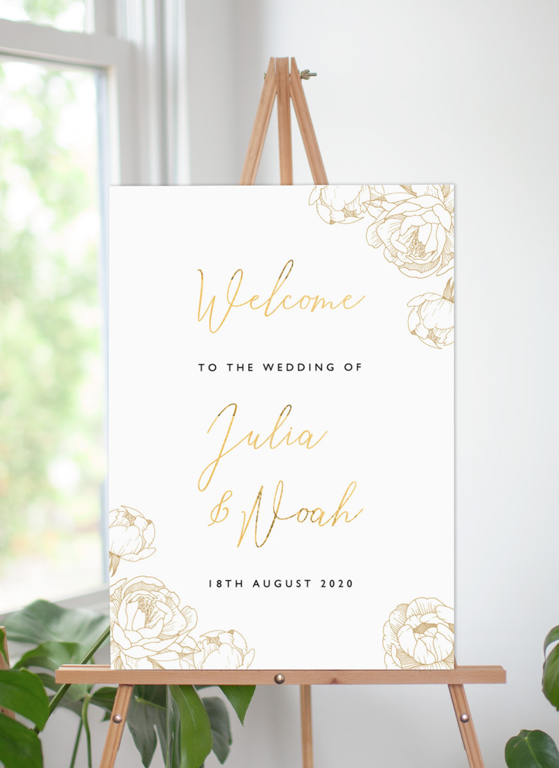 Peony Bloom - Wedding Signs