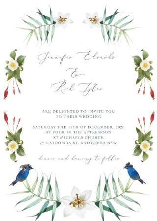 Tropical Love Wedding Invitations - wedding invitations
