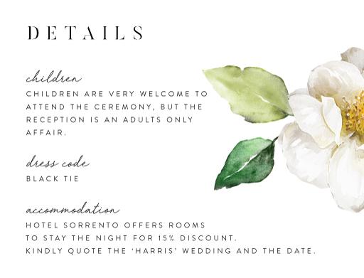 White Garden - Information Cards