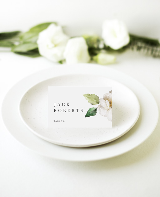 White Garden - Place Cards