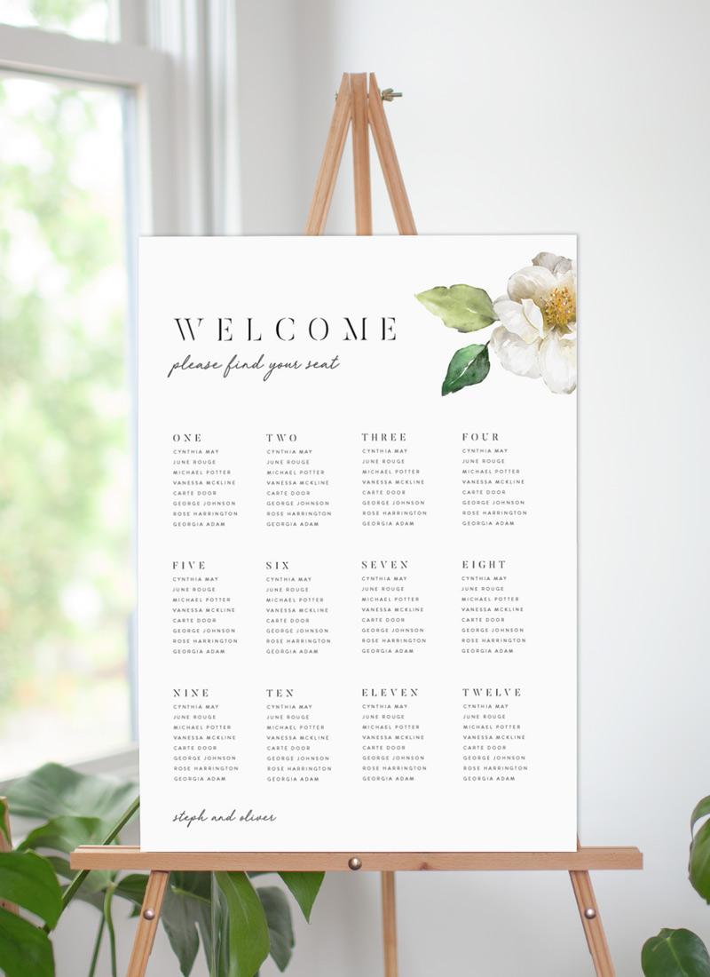 White Garden - Seating Charts