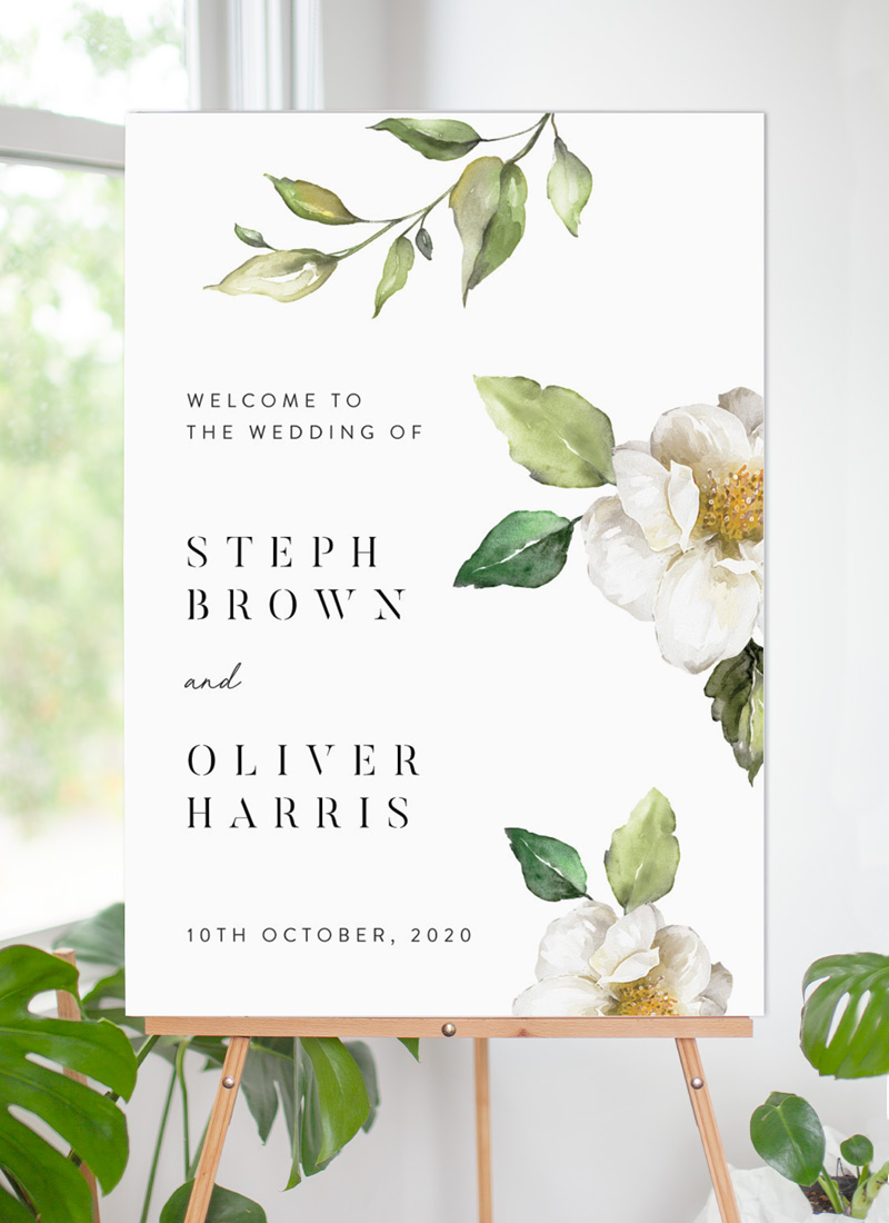 White Garden - Wedding Signs